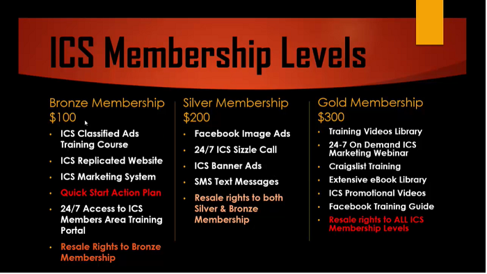 Instant Cash Solutions Membership Levels